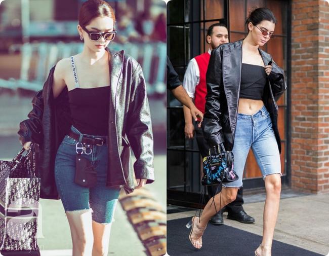 Khoe quần jeans trước sau như một, tưởng không ai dám mặc hóa ra Ngọc Trinh lại đụng hàng với cô em chân siêu dài nhà Kim-8