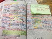 Chữ chi chít trang giấy, hightlight đủ màu sặc sỡ, học sinh chỉ cần nhìn phát biết ngay dân chuyên môn nào!