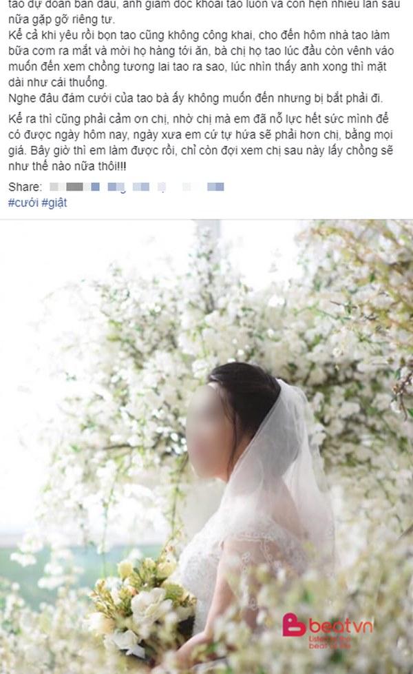 Ngày lấy chồng, cô dâu khiến chị họ chết điếng vì thân thế của chú rể và thâm cung bí sử câu chuyện năm xưa mới là đòn choáng váng-1