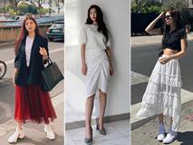 Mấy nàng thích mặc đẹp sao có thể làm ngơ trước 12 cách diện chân váy xinh nức nở này của sao Hàn?