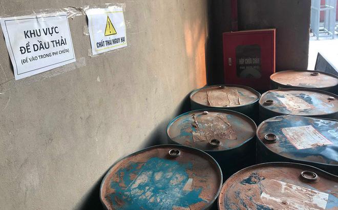 Cận cảnh nơi lưu giữ dầu thải bị tuồn ra đầu độc nước sông Đà của Công ty gốm sứ Thanh Hà-1
