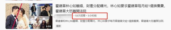 Rộ tin Lâm Tâm Như ly hôn, giành được quyền nuôi con, hàng tháng đòi Hoắc Kiến Hoa phải chu cấp 70 tỷ-2