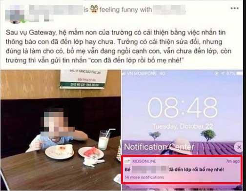 Đang ngồi ăn sáng cùng con, bố bất ngờ nhận tin nhắn thông báo từ trường Sakura - cùng hệ thống Gateway: Con đã đến lớp rồi bố mẹ nhé-1
