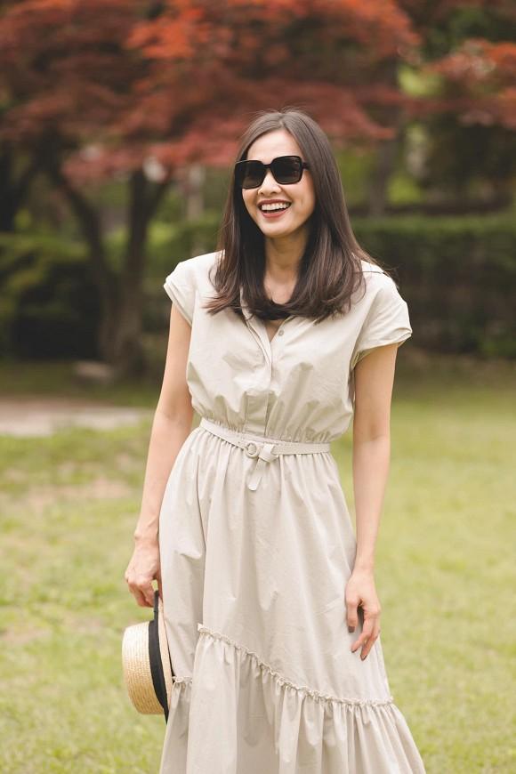 Hoa hậu Dương Mỹ Linh khoe nụ cười như toả nắng giữa trời thu Nhật Bản mộng mơ-3