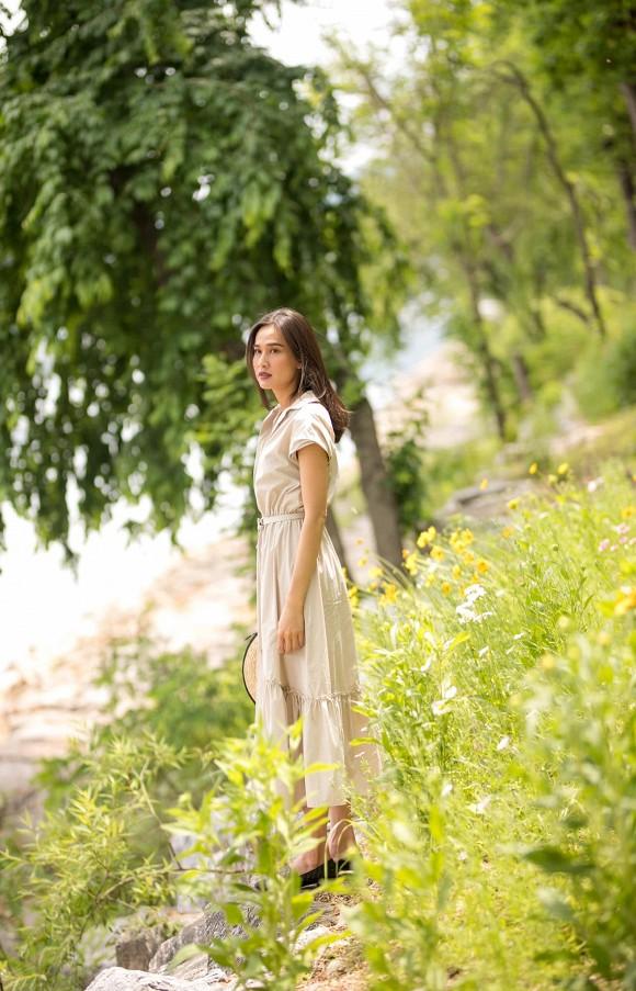 Hoa hậu Dương Mỹ Linh khoe nụ cười như toả nắng giữa trời thu Nhật Bản mộng mơ-5