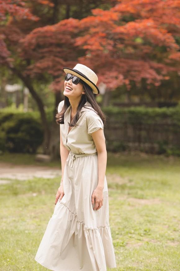 Hoa hậu Dương Mỹ Linh khoe nụ cười như toả nắng giữa trời thu Nhật Bản mộng mơ-8