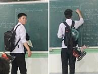 """Hay """"cà khịa"""" giấu giày dép của các bạn trong lớp, nam sinh phải làm cách này mỗi khi lên bảng để đồ đạc không bị thất lạc"""