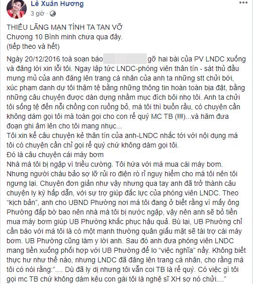 Tưởng đã hồi kết nhưng hoá ra vẫn chưa hết, NS Xuân Hương tiếp tục đăng đàn chuyện MC Thanh Bạch dùng chiêu để hạ bệ danh tiếng mình-4