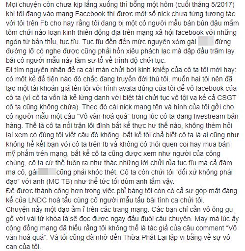 Tưởng đã hồi kết nhưng hoá ra vẫn chưa hết, NS Xuân Hương tiếp tục đăng đàn chuyện MC Thanh Bạch dùng chiêu để hạ bệ danh tiếng mình-5