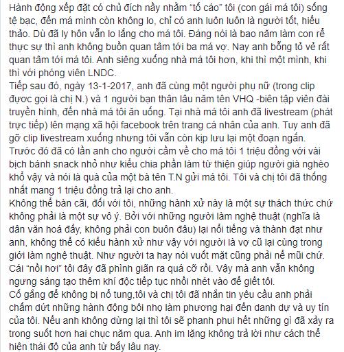 Tưởng đã hồi kết nhưng hoá ra vẫn chưa hết, NS Xuân Hương tiếp tục đăng đàn chuyện MC Thanh Bạch dùng chiêu để hạ bệ danh tiếng mình-7