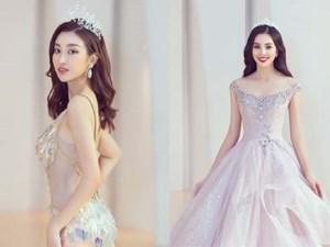 Mỹ Linh, Tiểu Vy đội vương miện lộng lẫy hoá công chúa như trong cổ tích