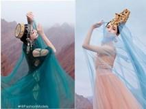 'Mỹ nhân Tân Cương' Đồng Lệ Á như tiên nữ hạ phàm khoe vũ điệu trên núi