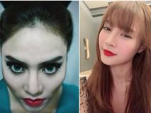 Lan Ngọc trang điểm phong cách 'Tiên hắc ám' khiến fan giật mình