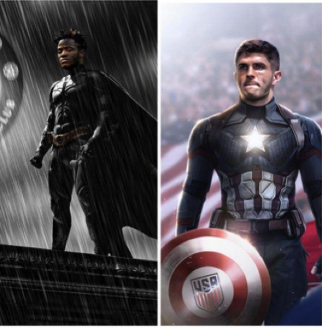 """Người hâm mộ phát cuồng với bộ đôi siêu anh hùng"""" của Chelsea-1"""