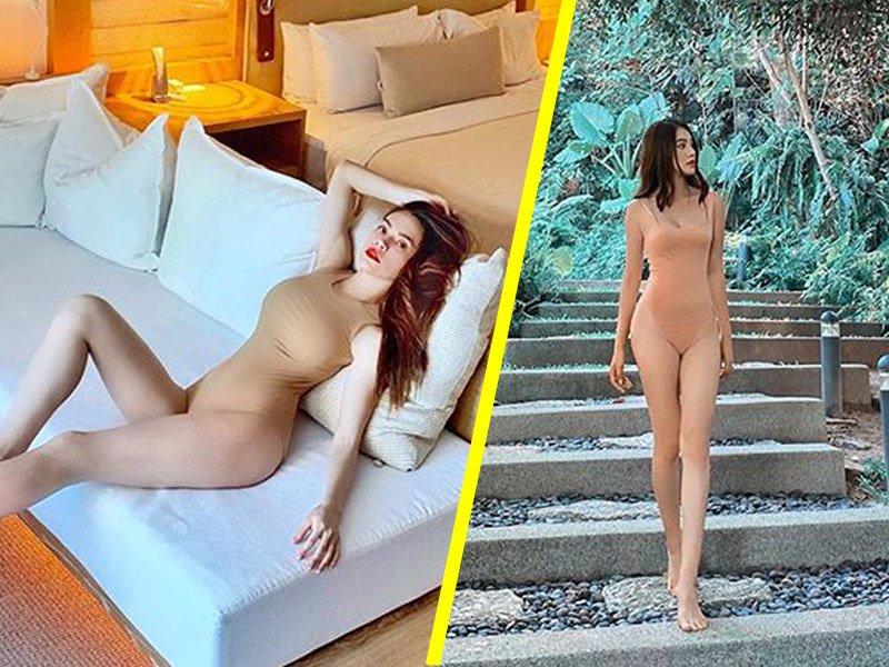 Sau Hồ Hà, đến lượt Hoa hậu con nhà giàu cũng can đảm diện áo tắm nude như khỏa thân-11
