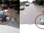 Khuất tầm nhìn, xe container cán qua người phụ nữ điều khiển xe máy-1