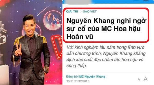 Từng chê bai MC Hoa hậu Hoàn vũ đọc sai kết quả, Nguyên Khang gặp sự cố tương tự và bị chỉ trích không kém-1