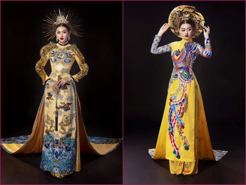 Vừa sang Nhật thi Miss International, Tường San đã tiết lộ hẳn 2 bộ áo dài cực kỳ hoành tráng để thi Quốc phục-10
