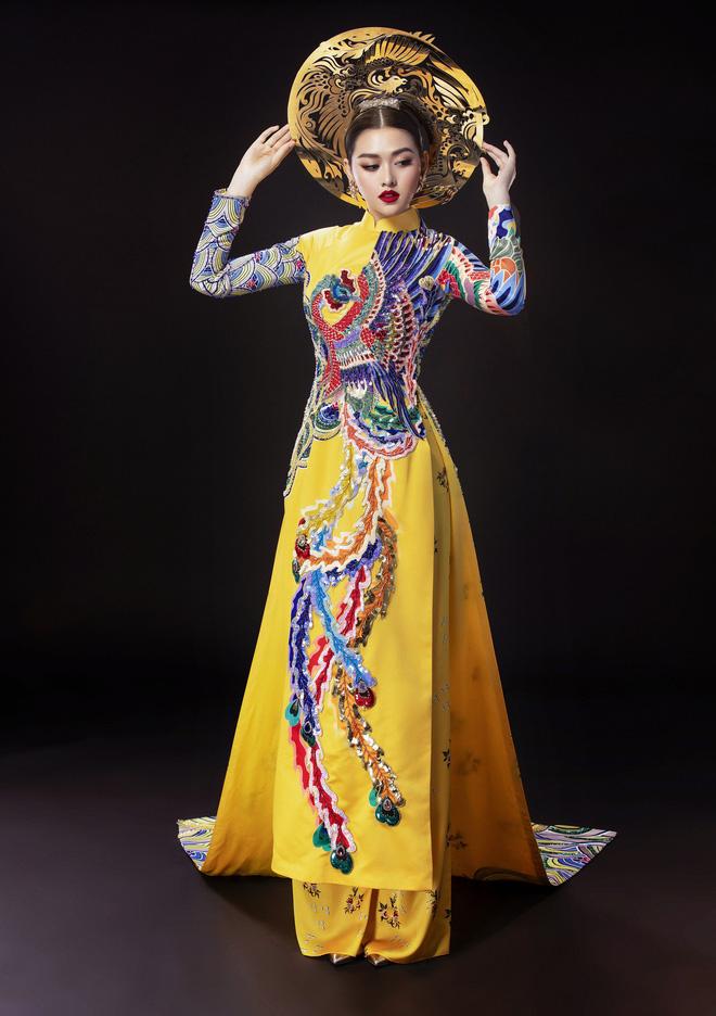 Vừa sang Nhật thi Miss International, Tường San đã tiết lộ hẳn 2 bộ áo dài cực kỳ hoành tráng để thi Quốc phục-9