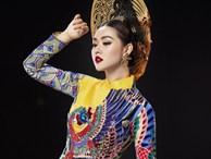 Vừa sang Nhật thi Miss International, Tường San đã tiết lộ hẳn 2 bộ áo dài cực kỳ hoành tráng để thi Quốc phục