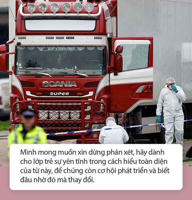"""Mẹ Nhật Nam: Từ vụ 39 người tử vong trên xe container, Có ai trong chúng ta coi con cái là phương tiện để đạt được ước mơ đời mình?""""-2"""