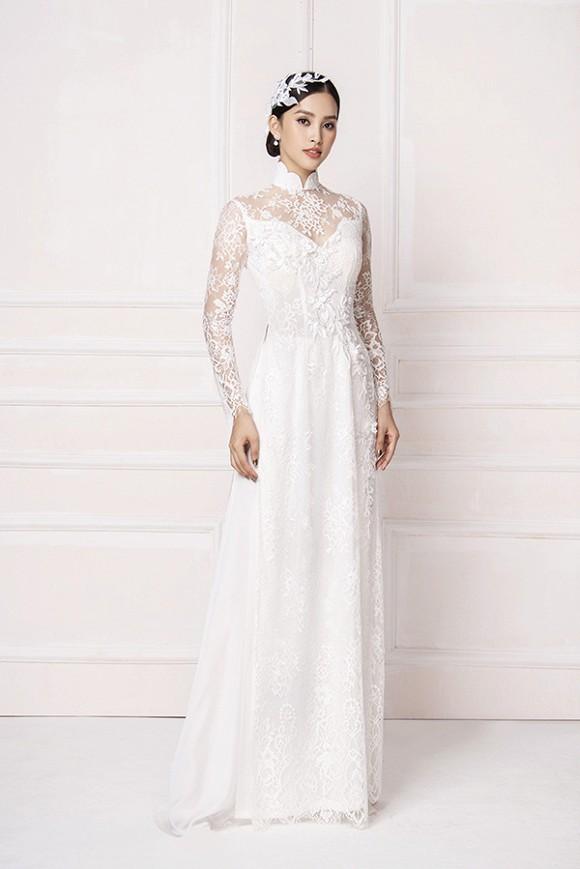 Hoa hậu Tiểu Vy diện áo dài trắng tinh khôi e ấp như 'đoá hoa chớm xuân'-3