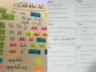 Những cách ghi thời khóa biểu hại não của học sinh: Cái sương sương phân theo cấp độ 'nguy hiểm' của môn học, cái gây tò mò bởi những ký tự ví von