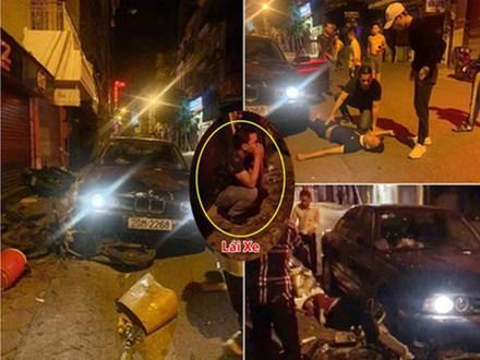 Ô tô BMW mất lái lao lên vỉa hè tông vào nhóm người đang dừng mua đồ ăn, 5 người nhập viện cấp cứu