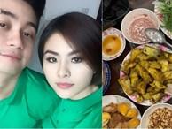 Gái một con Vân Trang vào bếp làm món đặc biệt, 'tá hoả' với bình luận của chồng thiếu gia