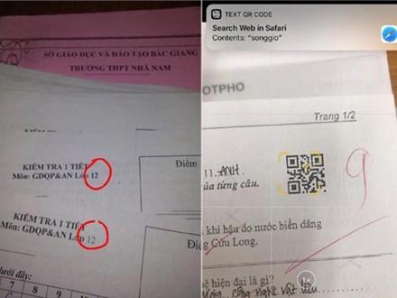 Khi giáo viên cao tay trị quay cóp bằng những mã đề bá đạo: Có đề chỉ khác nhau dấu chấm, có đề phải quét mã QR mới đọc được