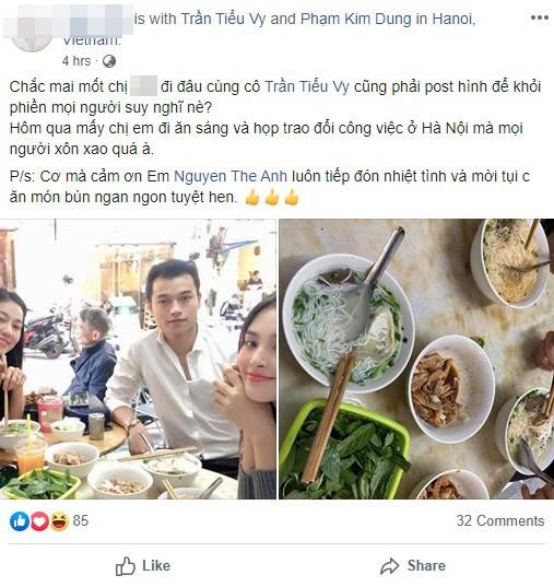 Không để mọi người chờ đợi lâu, Hoa hậu Tiểu Vy đã có động thái trước tin đồn hẹn hò tình cũ của Á hậu Huyền My-1