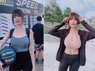 'Nữ thần bóng rổ' khiến ai cũng ngẩn ngơ vì vòng một quá nóng bỏng
