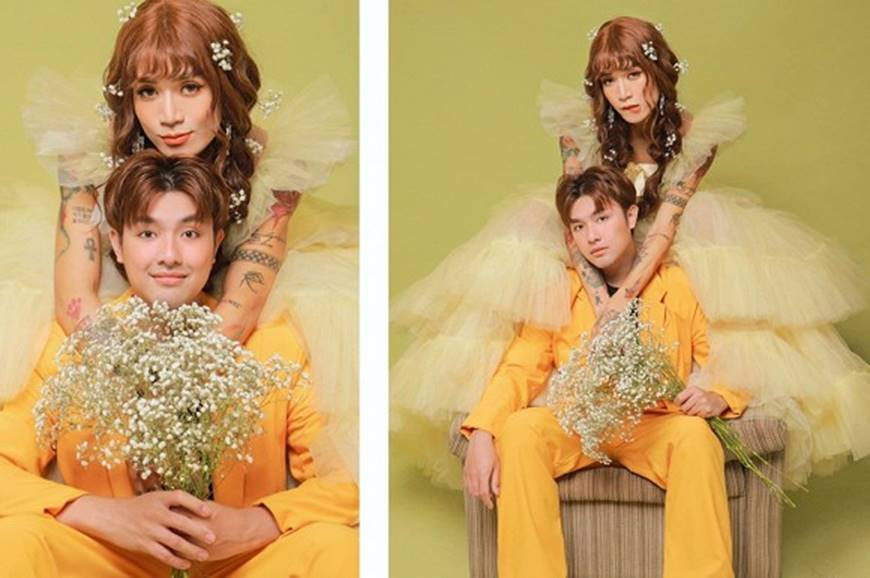 BB Trần và người yêu đồng giới hóa trang thành cô dâu, chú rể vào dịp Halloween-5