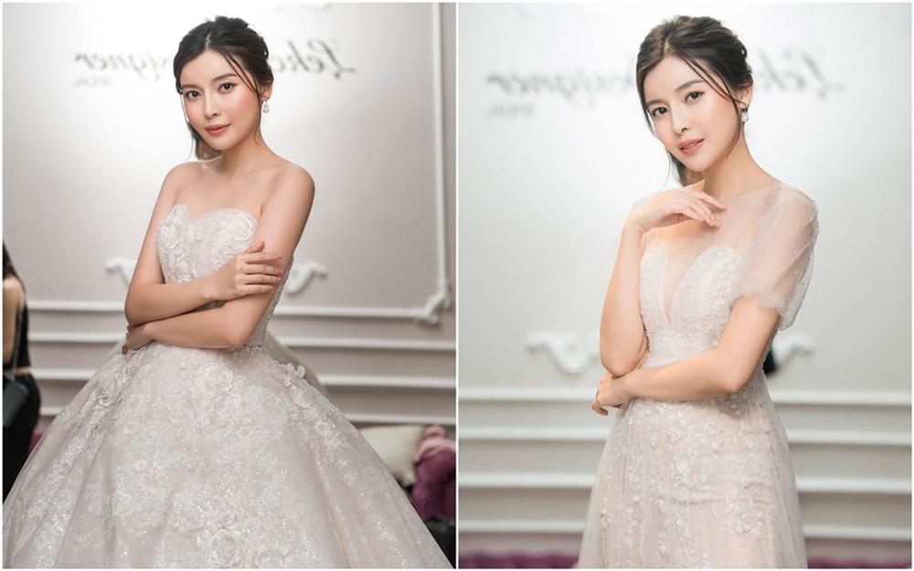 Cao Thái Hà khoe dáng với váy cúp ngực ở hậu trường-3