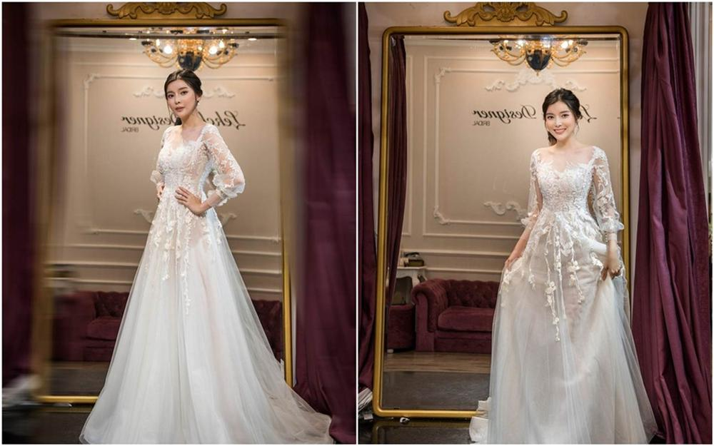 Cao Thái Hà khoe dáng với váy cúp ngực ở hậu trường-5