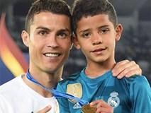 Con trai Ronaldo gây chú ý vì hiệu suất ghi bàn