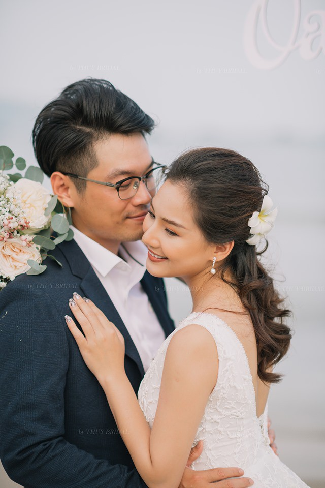 Kiều Oanh- vợ cố diễn viên người mẫu Duy Nhân rạng rỡ trong ngày cưới-7