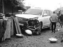 """Xe Lexus biển ngũ quý """"77777"""" gây tai nạn khiến 1 người phụ nữ tử vong"""