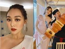 Bị sốt cao, Tường San vẫn gợi cảm khi chụp váy dạ hội ở Hoa hậu Quốc tế