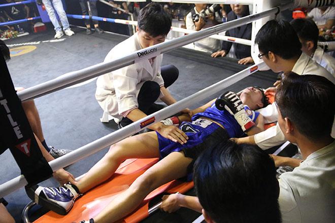 Chỉ 16 giây, nữ võ sĩ Việt khiến tay đấm boxing Thái Lan nhập viện-2