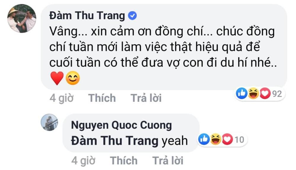 Đàm Thu Trang ngầm thông báo mang thai con đầu lòng với Cường Đô La?-2