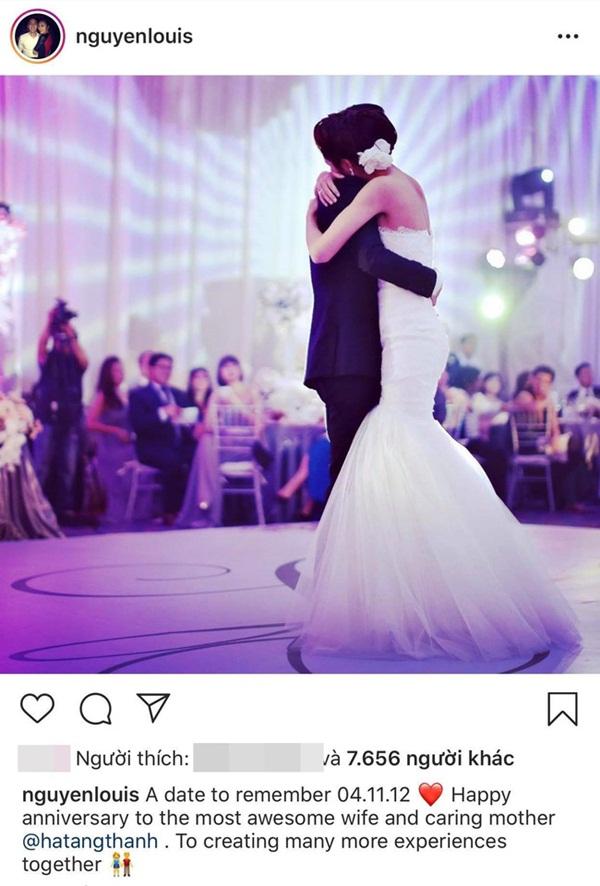 Hình ảnh hiếm hoi trong đám cưới cách đây 7 năm của Tăng Thanh Hà được chính Louis Nguyễn tiết lộ-1