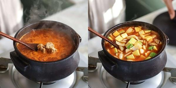 Học người Hàn nấu món canh thịt, ăn vào tiết trời mùa đông là ngon số 1!-4