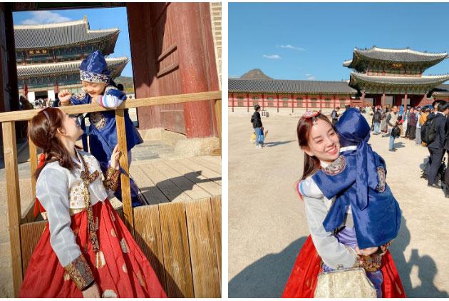 Ly Kute khoe ảnh cùng gia đình du lịch Hàn Quốc, nhưng ngoại hình bố mẹ cô mới là điều khiến dân mạng bất ngờ-6