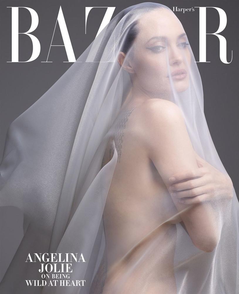 Angelina Jolie khỏa thân chụp ảnh nổi loạn-1
