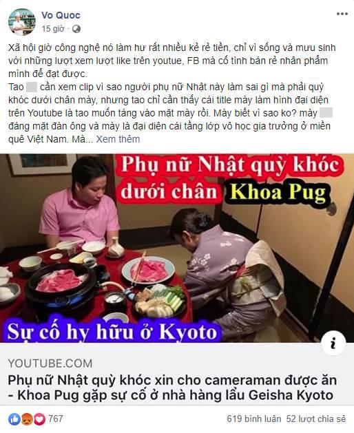 Một làn sóng tranh cãi dữ dội từ nhà văn đến giới đầu bếp đều đang chỉ trích Khoa Pug khi bị tố cố tình làm vlog dịch sai để hạ thấp phụ nữ!?-2