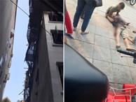 Hà Nội: Sập giàn giáo khi đang thi công xây dựng khiến 2 người rơi từ tầng 5