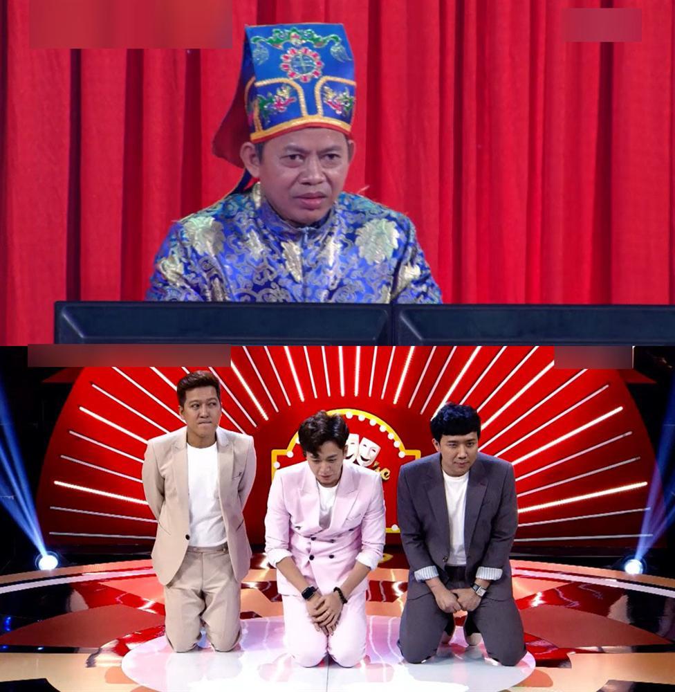 Trấn Thành, Trường Giang, Ngô Kiến Huy bị bắt quỳ gối giữa sân khấu-6