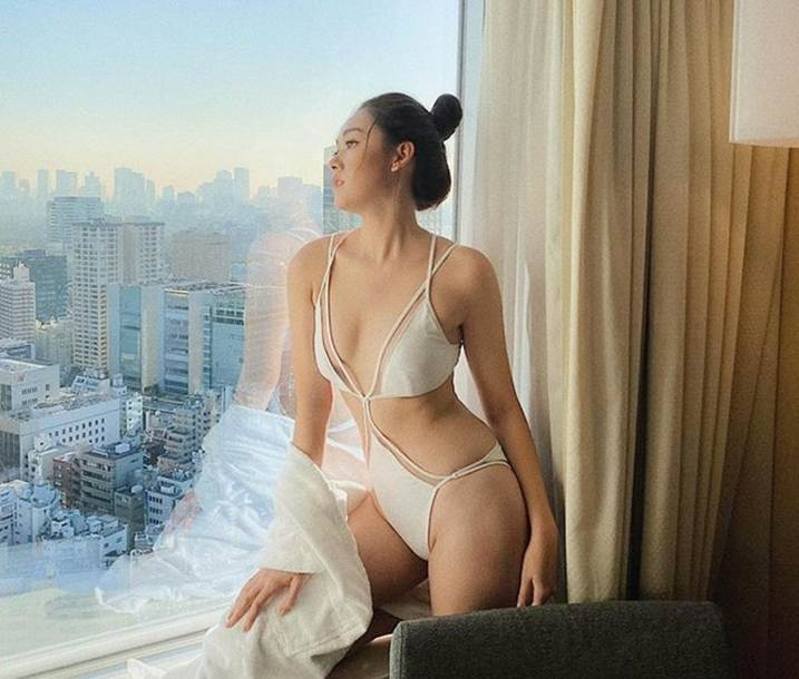 Á hậu Tường San diện áo tắm ở cuộc thi Hoa hậu Quốc tế 2019-1