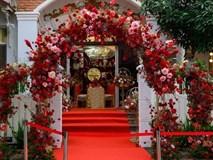 Không gian ngập hoa trong lễ ăn hỏi của Đông Nhi - Ông Cao Thắng